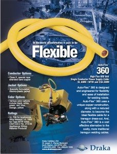 AUTO-FLEX™ 360 WELDING Highly Flexible Single Conductor Trans-Gun Welding Cables